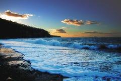 Linha costeira de Nova Escócia do porto dos salões foto de stock royalty free
