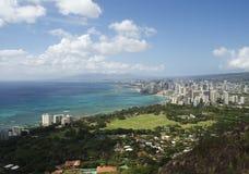 Linha costeira de Waikiki Fotografia de Stock Royalty Free