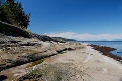 Linha costeira do Sandstone, console de Galiano, BC Imagens de Stock Royalty Free