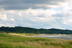 Linha costeira e praia Fotos de Stock Royalty Free