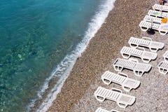 Linha costeira em um Pebble Beach Fotos de Stock
