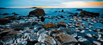 Linha costeira escandinava Imagens de Stock Royalty Free