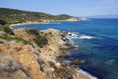 Linha costeira grega Imagens de Stock