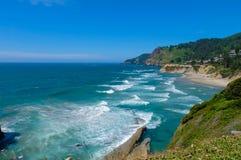 Linha costeira na costa de Orgeon, EUA Fotografia de Stock Royalty Free