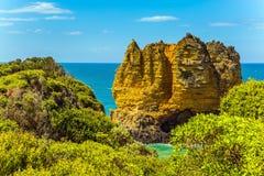Linha costeira pitoresca em Austrália Fotos de Stock Royalty Free