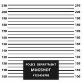 Linha criminosa do mugshot Formação ou mugshot da polícia ilustração royalty free