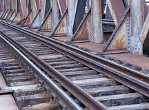 Linha cruzamento do trem Fotografia de Stock Royalty Free