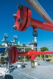 Linha da água e da espuma para o sistema de proteção contra incêndios Foto de Stock Royalty Free