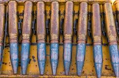 linha da bala na cremalheira de aço Foto de Stock Royalty Free
