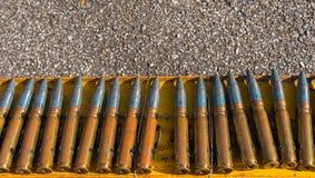 linha da bala na cremalheira de aço Imagens de Stock
