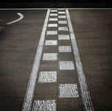 Linha da chegada em uma raça do motor fotografia de stock