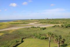 Linha da costa de Galveston Fotos de Stock