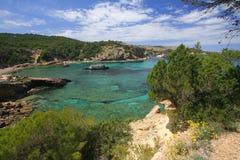 Linha da costa de Ibiza fotos de stock