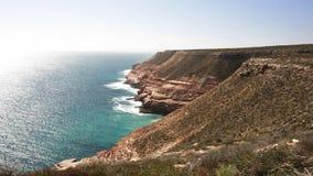 Linha da costa de Kalbarri imagem de stock