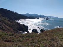 Linha da costa de Oregon foto de stock