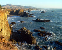 Linha da costa do condado de Sonoma Imagem de Stock Royalty Free