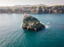 Linha da costa do mar foto de stock