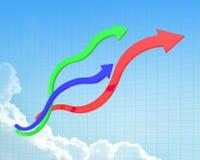 Linha da curva de carta Ilustração do Vetor