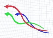 Linha da curva de carta Ilustração Stock