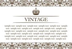Linha da decoração do frame do vintage Fotografia de Stock