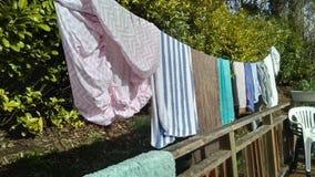 Linha da lavanderia Foto de Stock Royalty Free