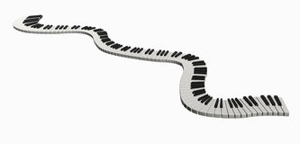 Linha da música ilustração royalty free