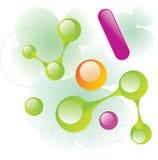 Linha da molécula Fotos de Stock