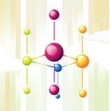 Linha da molécula Fotografia de Stock Royalty Free