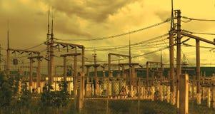 Linha da transmissão 3 da eletricidade Fotografia de Stock Royalty Free