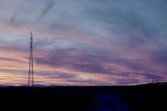 Linha da transmissão tower Imagem de Stock