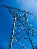 Linha da transmissão tower Fotos de Stock