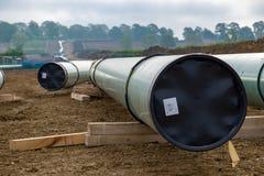 Linha da tubulação de gás foto de stock