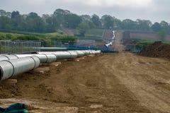 Linha da tubulação de gás fotos de stock royalty free