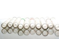 Linha das câmaras de ar da química Fotos de Stock