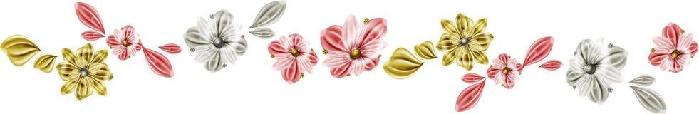 Linha das flores Fotos de Stock Royalty Free