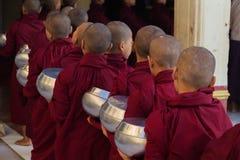 Linha das monges Imagem de Stock