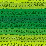 Linha das ondas em um fundo verde Imagens de Stock