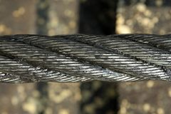 Linha de aço Fotografia de Stock