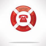 Linha de apoio ao cliente do serviço ao cliente Fotos de Stock Royalty Free