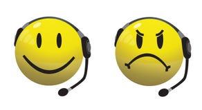 Linha de apoio a o cliente do smiley (PM 25) ilustração do vetor