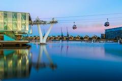 A linha de ar dos emirados ou o teleférico de Tamisa Foto de Stock Royalty Free