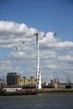 Linha de ar dos emirados (teleférico) em Londres Imagem de Stock Royalty Free