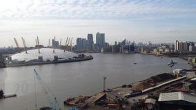 Linha de ar teleférico dos emirados de Londres Centro O2 Fotos de Stock Royalty Free