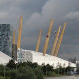 A linha de ar teleférico dos emirados Londres Imagens de Stock Royalty Free