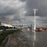 A linha de ar teleférico dos emirados Londres Fotografia de Stock