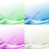 Linha de beira moderna abstrata collecti colorido do swoosh dos fundos Imagens de Stock