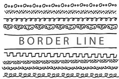 Linha de beira - ponto, triângulo e outro, isolados no branco, Foto de Stock Royalty Free