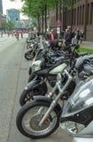 A linha de bicicletas no festival MoGO 35 Hamburgo Fotos de Stock Royalty Free