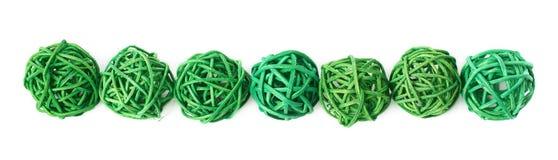 Linha de bolas da palha Imagens de Stock Royalty Free