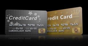 Linha de cartões de crédito Fotos de Stock Royalty Free